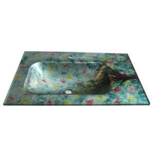 Modern Fashion Square Tempered Glass Sink C (Faucet Not Included)