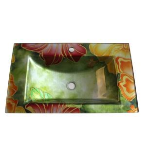 Modern Fashion Square Tempered Glass Sink H (Faucet Not Included)