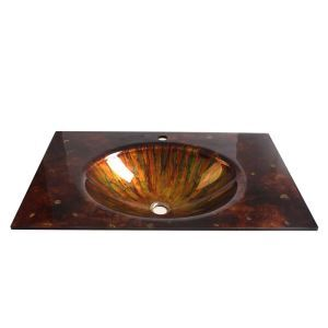 Modern Fashion Luxurious Square Tempered Glass Sink B (Faucet Not Included)