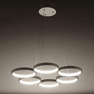 The Circular Ring Acrylic Chandelier Chandelier Style Warm Energy Saving