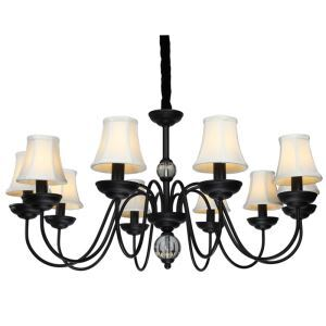 American Pendant Lamp Ten Lights Steel and Fabric   ( 8015-10  )