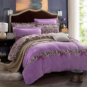 Floral Velvet 4 Piece Duvet Cover Sets