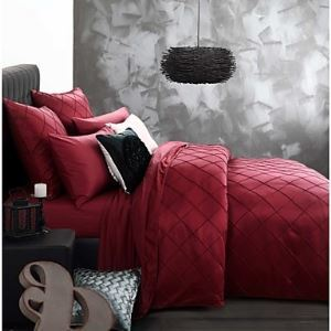 luxury bedding set queen king size bedclothes Wine color