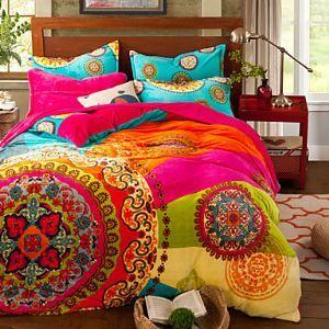 Bohemia winter Comforter Cover Set Queen Size bedding set