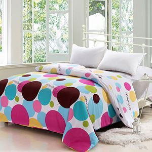 Duvet Cover Fashion Comfortable with Colorful Dots Printed Full/Queen/King Size