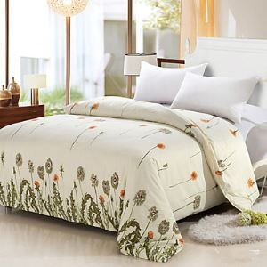 Cream Color Duvet Cover Fashion Soft & Comfortable Cute Dandelion Printed Full/Queen/King Size