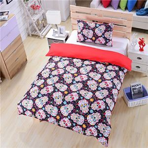 Sugar Skull Bedding Duvet Cover Set Twin Full Queen Sugar Skull Bedding Skull Bed Sheets