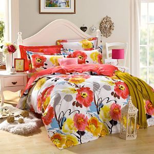3pc Duvet Cover Set Pure Cotton Fabric Queen Size