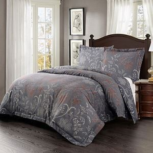 Simple Opulence Duvet Cover Set Microfiber luxury Printed lavender Flower Include Quilt Cover Pillow Cases Queen King