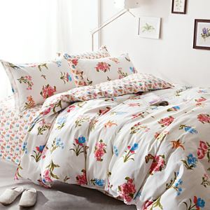2016 Floral Printing Bedding Set Queen Size Bedclothes pure Cotton Bedcover