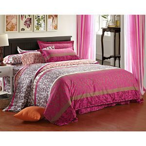 Aloe Cotton Fabrics 4 Piece Bed Linings Active Printing Single or Double QuiltBedding Set