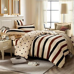 Queen Size 1pc Comforter case+2pcs Pillow Sham Bedding Set