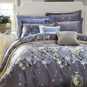 Floral Print Bedding Set Queen Size (1pc Duvet Cover+2pcs Pillowcases)