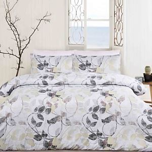 3 Piece Printed Duvet Cover Set - Super Soft Classic Print High Quality 100% Premium Cotton Hypoallergenic Set Bedding