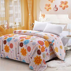 Cream Color Duvet Cover Fashion Comfortable Flower Printed Full/Queen/King Size