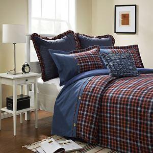 Plaid Cotton / Flannel Duvet Cover Sets