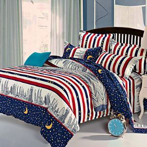 Starry Sky Bedsheet Pillowcases Duvet Cover