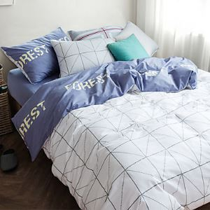 Reactive Printing 4pcs Bedding Set Bedsheet Duvet Cover Pillowcase Home Textile Bed Clothes American Style