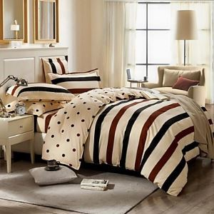 Geometric Cotton 4 Piece Duvet Cover Sets