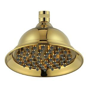 6 Inch Contemporary Ti-PVD Finish Brass Rainfall Shower Head