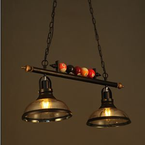 Nordic Retro Art Glass Chandelier Restaurant Bar Billiards Industrial Chandeliers