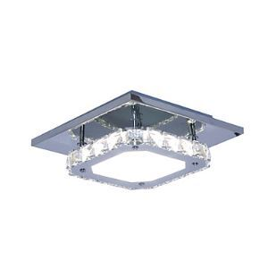 Modern/Contemporary Crystal / LED White Light Stainless Steel Crystal Ceiling Light Flush Mount Living Room / Hallway Energy Saving