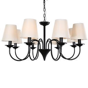 8 Light 33 inch Ceiling Light Fixture, Black