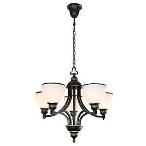 5 Light 22 inch Ceiling Light Fixture, Black