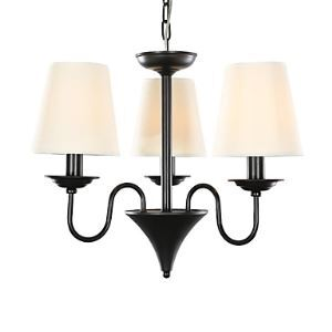 3 Light 20 inch Ceiling Light Fixture, Black