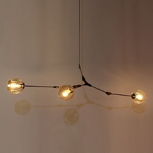 3 Heads Loft Amercian Countryside Vintage Plating Pendant Lamp for Indoor House Decorate Drop Light