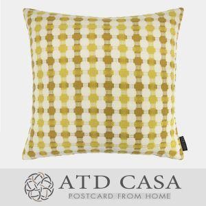 ATD CASA Nordic Modern Simple Throw Pillow Yellow Geometric Designs 3D Braiding Cushion Cover Pillow Cover