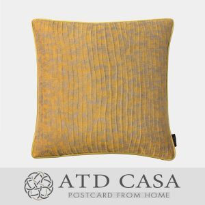ATD CASA Modern Throw Pillow Cotton Stripes Embroidery Cushion Cover Pillow Cover