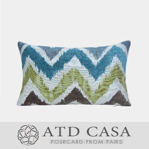 ATD CASA Nordic Modern Throw Pillow Wave Jacquard Lumbar Pillow Cushion Cover