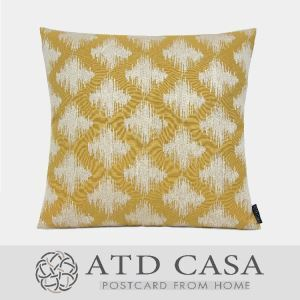 ATD CASA Nordic Modern Simple Throw Pillow Yellow Embroidery Cushion Cover Pillow Cover