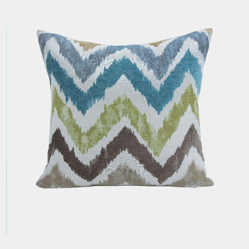 Jacquard Throw Pillows : Home Textiles - Throws & Pillows - ATD CASA Nordic Modern Throw Pillow Wave Jacquard Cushion ...