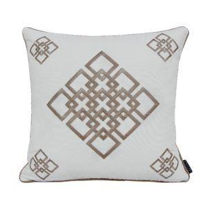 ATD CASA Modern Nordic Embroidery Off-white Throw Pillow Cotton Linen Cushion Cover Pillow Cover