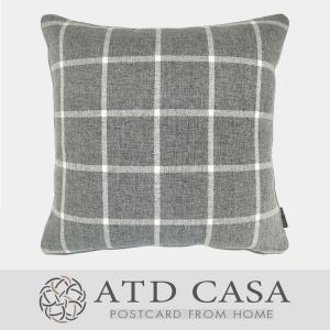 ATD CASA Modern Simple Decorative Throw Pillow Gray White Cushion Cover Pillow Cover