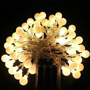 Aa Battery Led String Light Cherry Ball Led Light 5M 40Led Decoration Light For Home/Party/Wedding Energy Saving