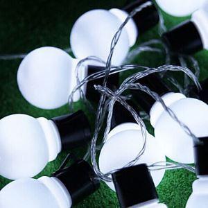 Outdoor Lighting 4Cm Big Size Led Ball String Light Ac220V Christmas Light Energy Saving