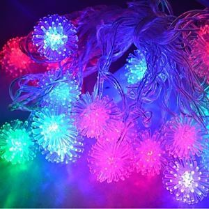 4M 20LEDs RGB LED Snowball String Lights Christmas String Light for Decoration (AC 110-220V)