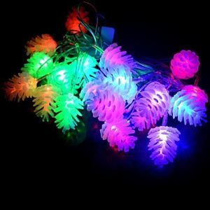 20-LED 4M Waterproof Christmas Decoration Pine cone RGB Light LED String Light (220V) Energy Saving