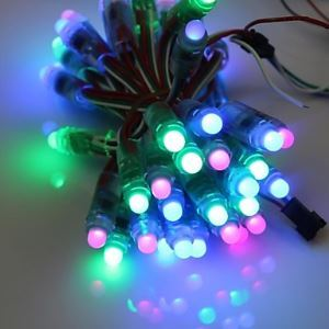GOESWELL™ WS2811 LED Pixel String Light 50Pcs/String 12mmDC5V RGB Color for Channel Letter Christmas Tree Energy Saving