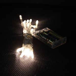 3M 30-LED Warm White Light 2-Mode LED String Fairy Lamp for Christmas (3xAA)