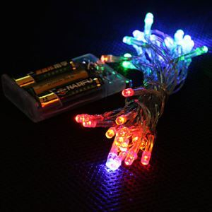 3M 4 Colors Light 2-Mode LED String Fairy Lamp for Christmas (3xAA)