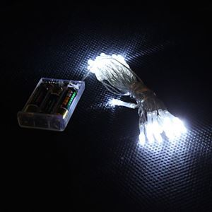 3M 30-LED White Light 2-Mode LED String Fairy Lamp for Christmas (3xAA)