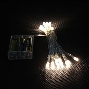 2M 20-LED Warm White Light 2-Mode LED String Fairy Lamp for Christmas (3xAA)