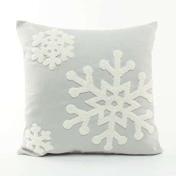 Christmas Snowflake Canvas Embroidery Snowman Sofa Cushion Cover Pillow Chrismtmas Gifts Decoration