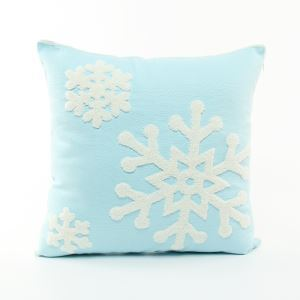 Christmas Snowflake Canvas Embroidery Snowman Sofa Cushion Cover Pillow Cover Chrismtmas Gifts Christmas Decoration