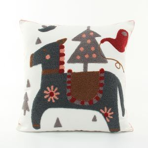 Christmas Horse Canvas Embroidery Snowman Sofa Cushion Cover Pillow Cover Chrismtmas Gifts Christmas Decoration