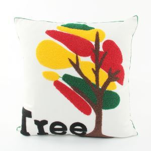 Colorful Tree Canvas Embroidery Snowman Sofa Cushion Cover Pillow Cover Chrismtmas Gifts Christmas Decoration